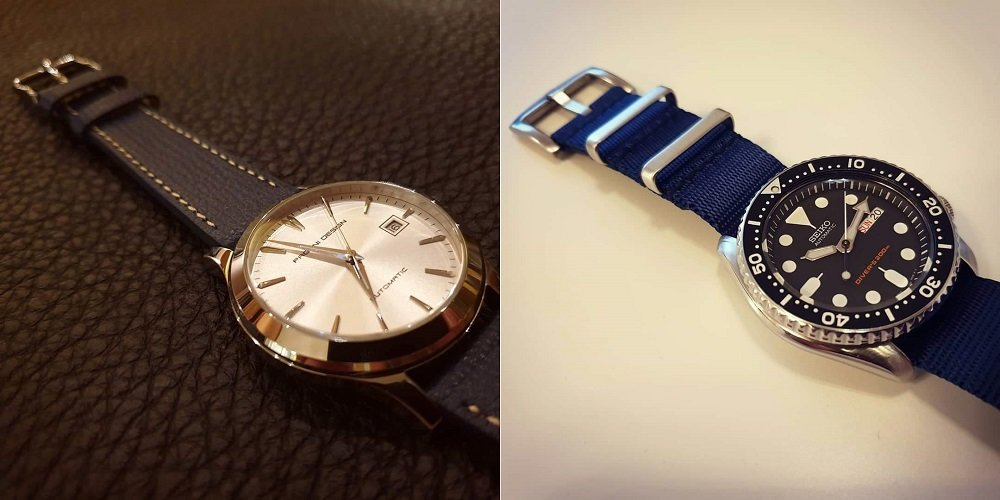 Vario Italian Leather & Single-pass Nato rannekkeet